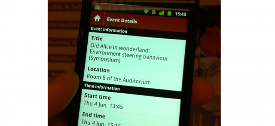 Android App: ISG*ISARC2012 Conference